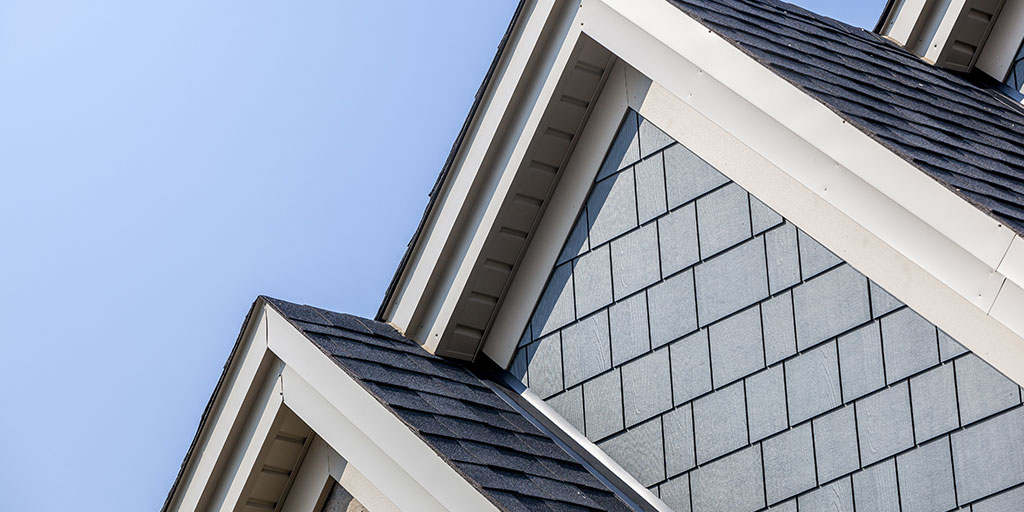 Close up of a house roof